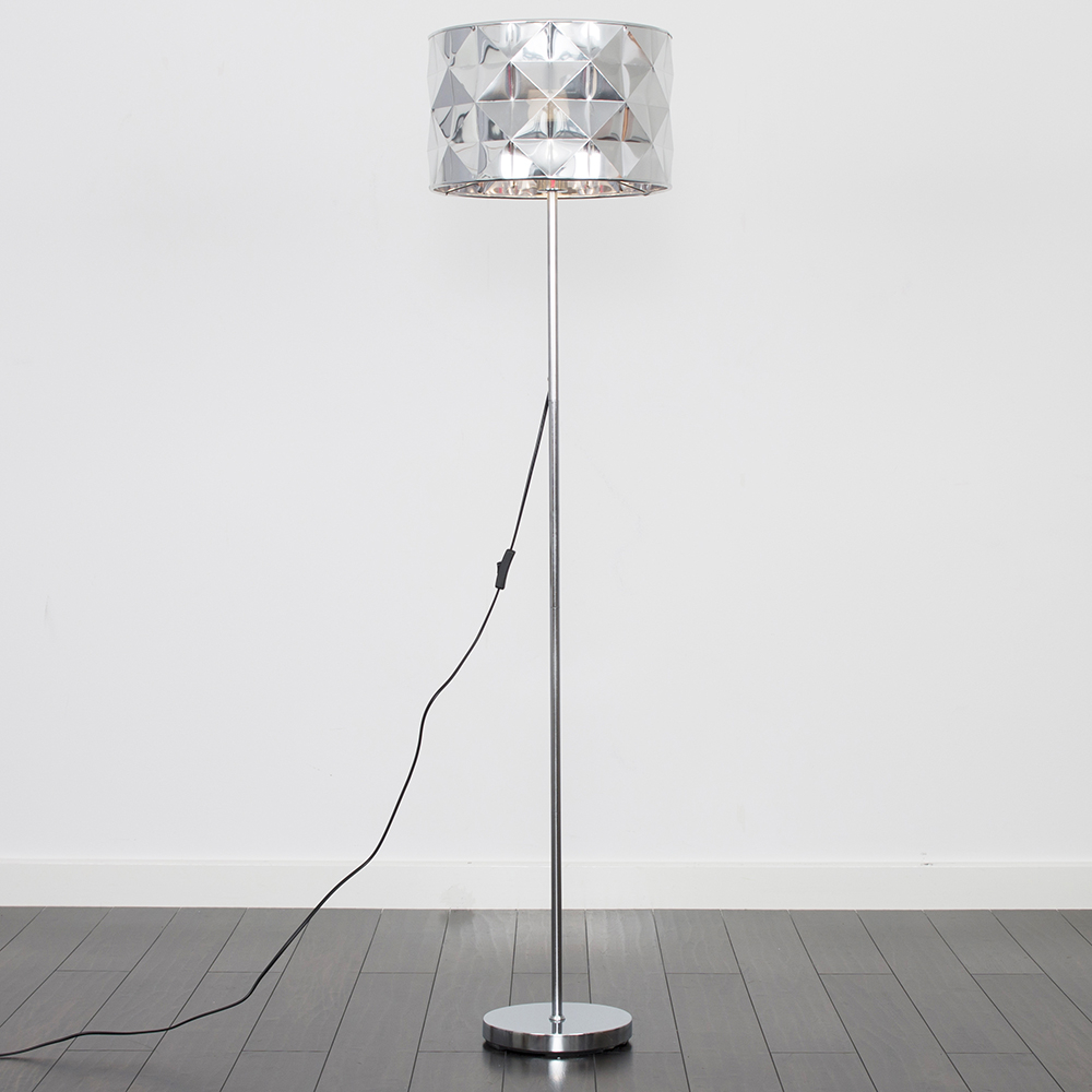Charlie Brushed Chrome Floor Lamp with