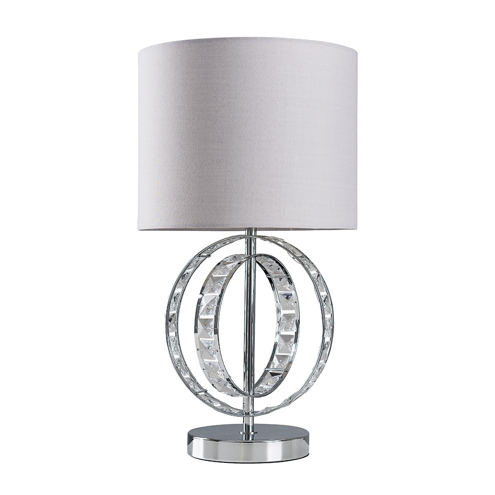 Rothwell Touch Table Lamp with Cool Grey Reni Shade