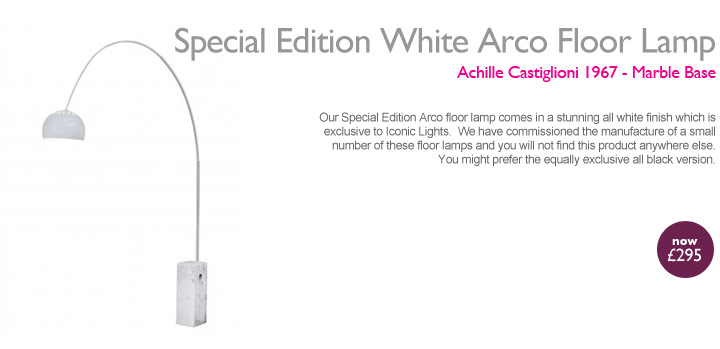 Special Edition White Arco Floor Lamp