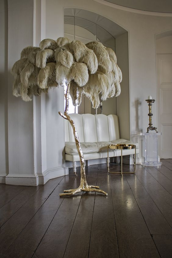 Feather Floor Lamp
