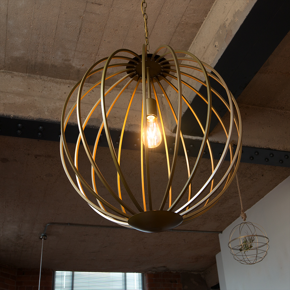 Iconic 'Astoria' Basket Ceiling Pendant, Gold