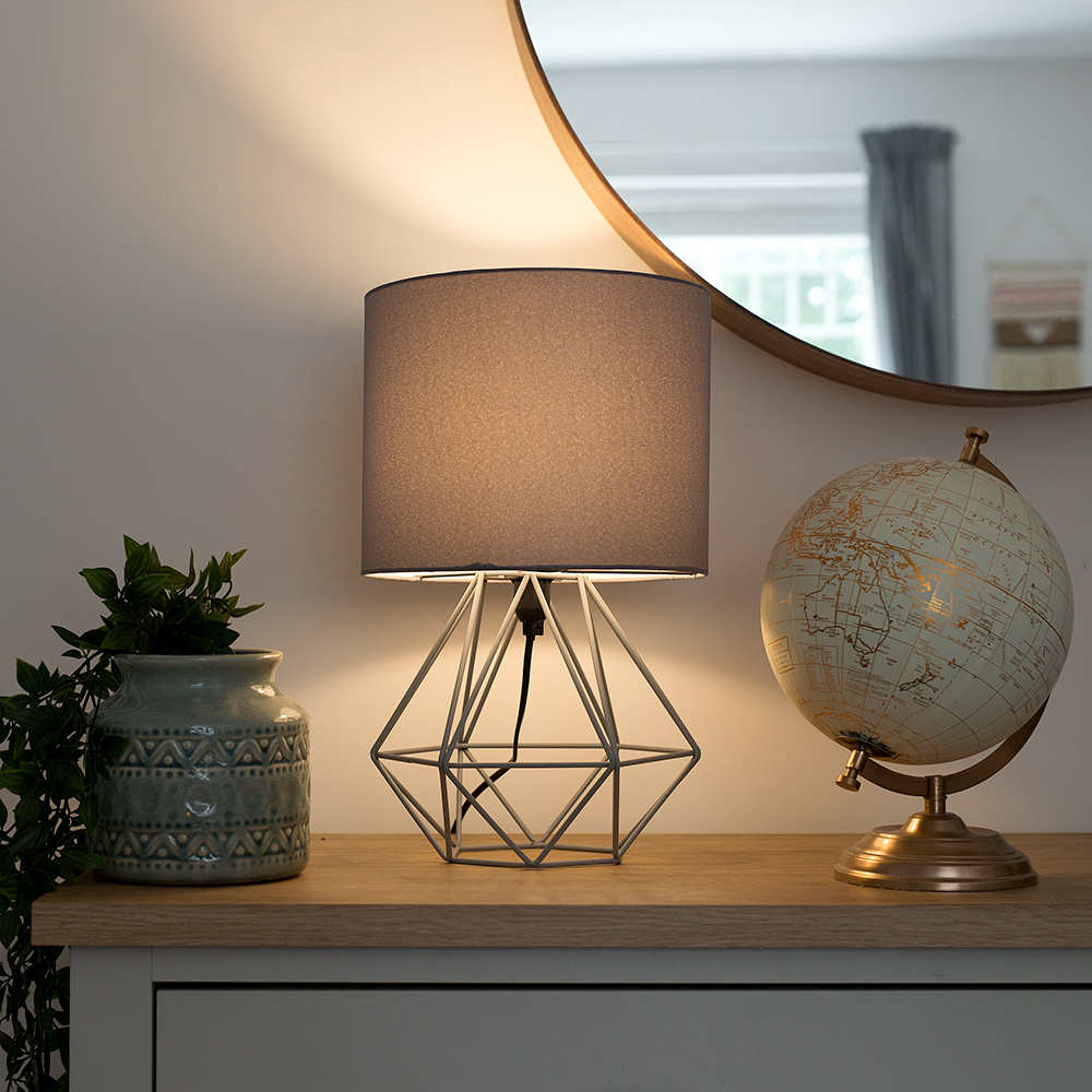 Grey Angus Table Lamp
