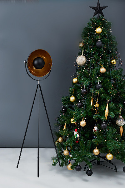 Morpho Floor Lamp and Christmas Tree