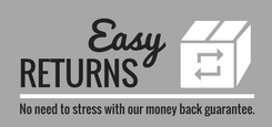 Easy Returns with our money back guarantee