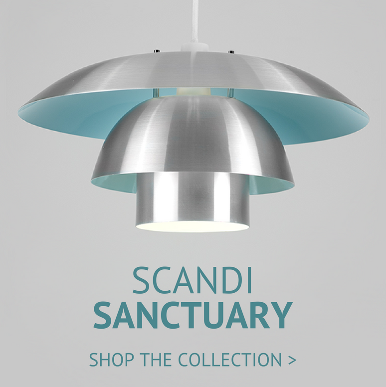 scandi sanctuary featuring a 3 tier stacked scandi shade