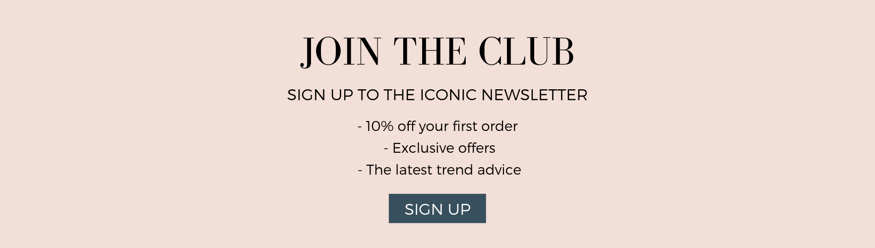 Sign Up Banner 10% Off First Order